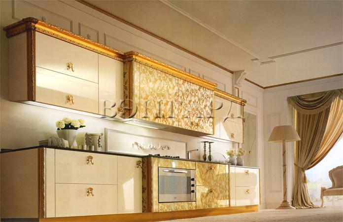 Кухни золото фото